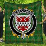 1stScotland Premium Quilt - House Of Joyce Irish Family Crest Quilt - Irish National Tartan A7
