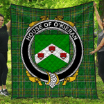 1stScotland Premium Quilt - House Of O'Kieran Irish Family Crest Quilt - Irish National Tartan A7