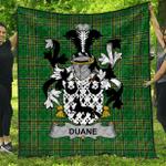 1stScotland Premium Quilt - Duane Or O'Devine Irish Family Crest Quilt - Irish National Tartan A7