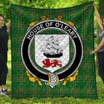 1stScotland Premium Quilt - House Of O'Leary Irish Family Crest Quilt - Irish National Tartan A7