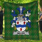 1stScotland Premium Quilt - Miller Irish Family Crest Quilt - Irish National Tartan A7