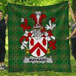 1stScotland Premium Quilt - Maynard Irish Family Crest Quilt - Irish National Tartan A7