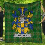 1stScotland Premium Quilt - Wethill Irish Family Crest Quilt - Irish National Tartan A7