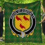 1stScotland Premium Quilt - House Of O'Gormley Irish Family Crest Quilt - Irish National Tartan A7