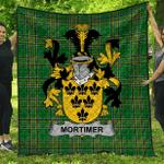 1stScotland Premium Quilt - Mortimer Irish Family Crest Quilt - Irish National Tartan A7