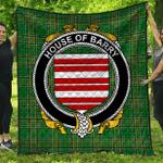 1stScotland Premium Quilt - House Of Barry Irish Family Crest Quilt - Irish National Tartan A7