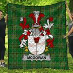 1stScotland Premium Quilt - Mcgowan Or Mcgouan Irish Family Crest Quilt - Irish National Tartan A7