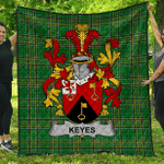 1stScotland Premium Quilt - Keyes Irish Family Crest Quilt - Irish National Tartan A7