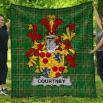 1stScotland Premium Quilt - Courtney Irish Family Crest Quilt - Irish National Tartan A7
