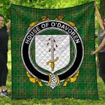 1stScotland Premium Quilt - House Of O'Davoren Irish Family Crest Quilt - Irish National Tartan A7