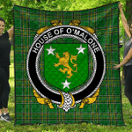 1stScotland Premium Quilt - House Of O'Malone Irish Family Crest Quilt - Irish National Tartan A7