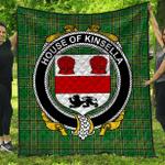 1stScotland Premium Quilt - House Of Kinsella Irish Family Crest Quilt - Irish National Tartan A7