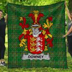 1stScotland Premium Quilt - Downey Or O'Downey Irish Family Crest Quilt - Irish National Tartan A7