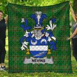 1stScotland Premium Quilt - Nevins Or Mcnevins Irish Family Crest Quilt - Irish National Tartan A7