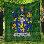 1stScotland Premium Quilt - Mcdaniel Or Daniel Irish Family Crest Quilt - Irish National Tartan A7
