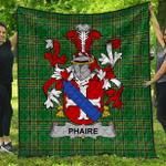 1stScotland Premium Quilt - Phaire Irish Family Crest Quilt - Irish National Tartan A7