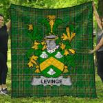 1stScotland Premium Quilt - Levinge Or Levens Irish Family Crest Quilt - Irish National Tartan A7