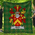 1stScotland Premium Quilt - Rich Irish Family Crest Quilt - Irish National Tartan A7