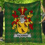 1stScotland Premium Quilt - Falkiner Irish Family Crest Quilt - Irish National Tartan A7