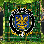 1stScotland Premium Quilt - House Of O'Dunn Irish Family Crest Quilt - Irish National Tartan A7