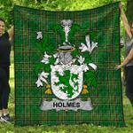 1stScotland Premium Quilt - Holmes Irish Family Crest Quilt - Irish National Tartan A7