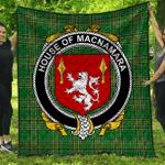 1stScotland Premium Quilt - House Of Macnamara Irish Family Crest Quilt - Irish National Tartan A7