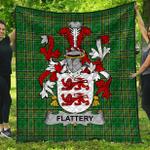 1stScotland Premium Quilt - Flattery Or O'Flattery Irish Family Crest Quilt - Irish National Tartan A7