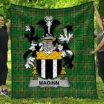 1stScotland Premium Quilt - Maginn Or Ginn Irish Family Crest Quilt - Irish National Tartan A7