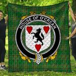 1stScotland Premium Quilt - House Of O'Crean Irish Family Crest Quilt - Irish National Tartan A7