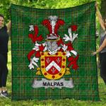 1stScotland Premium Quilt - Malpas Irish Family Crest Quilt - Irish National Tartan A7