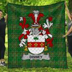 1stScotland Premium Quilt - Disney Irish Family Crest Quilt - Irish National Tartan A7
