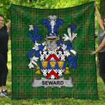 1stScotland Premium Quilt - Seward Irish Family Crest Quilt - Irish National Tartan A7