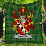 1stScotland Premium Quilt - Gibbons Or Mcgibbons Irish Family Crest Quilt - Irish National Tartan A7