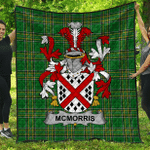 1stScotland Premium Quilt - Mcmorris Or Mcmoresh Irish Family Crest Quilt - Irish National Tartan A7