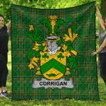 1stScotland Premium Quilt - Corrigan Or O'Corrigan Irish Family Crest Quilt - Irish National Tartan A7