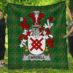 1stScotland Premium Quilt - Cardell Irish Family Crest Quilt - Irish National Tartan A7