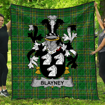 1stScotland Premium Quilt - Blayney Irish Family Crest Quilt - Irish National Tartan A7