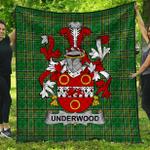 1stScotland Premium Quilt - Underwood Irish Family Crest Quilt - Irish National Tartan A7
