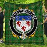 1stScotland Premium Quilt - House Of O'Kearney Irish Family Crest Quilt - Irish National Tartan A7