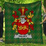 1stScotland Premium Quilt - Falvey Or O'Falvey Irish Family Crest Quilt - Irish National Tartan A7