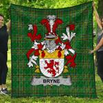 1stScotland Premium Quilt - Bryne Or Brinn Irish Family Crest Quilt - Irish National Tartan A7