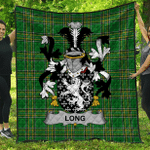 1stScotland Premium Quilt - Long Or Longe Irish Family Crest Quilt - Irish National Tartan A7