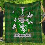 1stScotland Premium Quilt - Mcglinchy Or Mcglinchey Irish Family Crest Quilt - Irish National Tartan A7