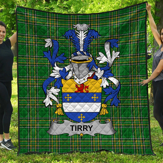 1stScotland Premium Quilt - Tirry Irish Family Crest Quilt - Irish National Tartan A7