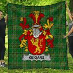 1stScotland Premium Quilt - Keigans Or Mckeehan Irish Family Crest Quilt - Irish National Tartan A7