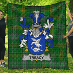 1stScotland Premium Quilt - Treacy Or Tracy Irish Family Crest Quilt - Irish National Tartan A7