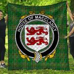1stScotland Premium Quilt - House Of Macclancy Irish Family Crest Quilt - Irish National Tartan A7