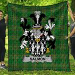 1stScotland Premium Quilt - Salmon Irish Family Crest Quilt - Irish National Tartan A7