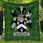 1stScotland Premium Quilt - Woodlock Irish Family Crest Quilt - Irish National Tartan A7
