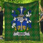 1stScotland Premium Quilt - Owen Irish Family Crest Quilt - Irish National Tartan A7